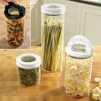 Glass Flip-lock Container Set @ Fresh Finds