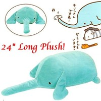 "Kamio Slug Animal 24"" Plush: Elephant"