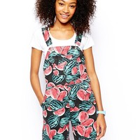 American Apparel | American Apparel Watermelon Overalls at ASOS