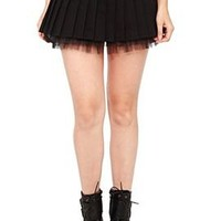 Royal Bones Black Belted Skirt - 700532
