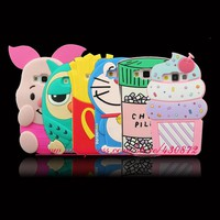 3D Silicon Cupcake Pig Owl Cat Pill Cactus Cartoon Soft Phone Case Cover for Samsung Galaxy A5 E5 J5 A7 J7 J3 2015 2016 2017