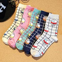 Funny Milk Design Adult Socks