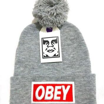 Obey Women Men Embroidery Beanies Knit Wool Hat Cap-18
