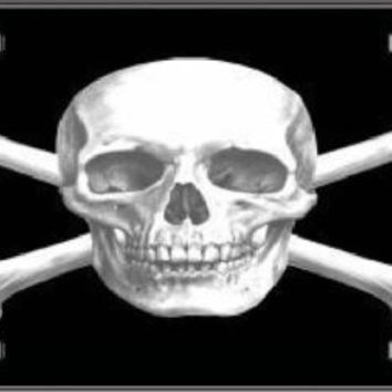 Skull Cross Bones Decorative Sign Tag License Plate