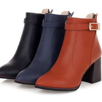 Womens Edgy Moto Ankle Boots