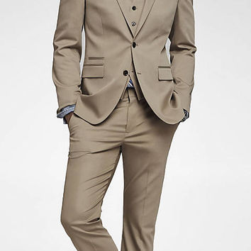 Khaki Cotton Sateen Photographer Suit from EXPRESS