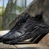 """NIKE"" Air Huarache Casual Running Sport Shoes Sneakers Black"