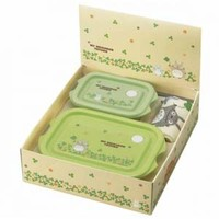 TOTORO Gift Set -- 2 Container Bento Box with Hand Towel