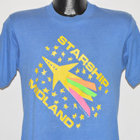 80s Starship Midland Rocket Launch Rainbow t-shirt Small