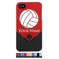 Personalized Case/Cover for iPhone 4/4S- Volleyball, Add your name for Free