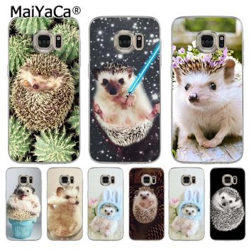 MaiYaCa Cute Animal Little Hedgehog Ultra Thin Cartoon Pattern Phone Case for samsung galaxy s7 s6 edge plus s5 s9 s8 plus case