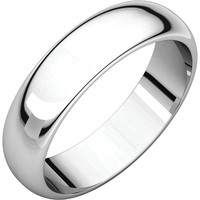 10k White Gold 1.5mm Half Round Wedding Band Ring - Bridal Jewelry: RingSize: 00