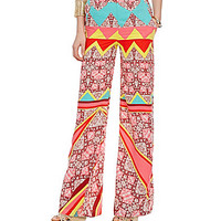 GB Smocked Printed Palazzo Pants - Multi