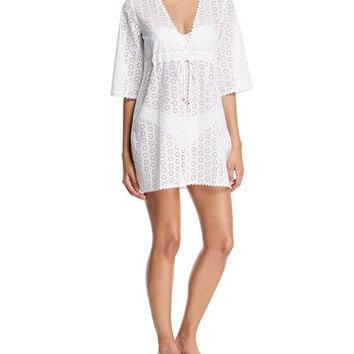Tory Burch Broderie Anglaise Coverup Beach Dress
