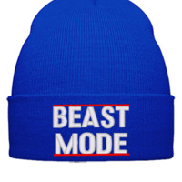 beast mode embroidery hat - Beanie Cuffed Knit Cap