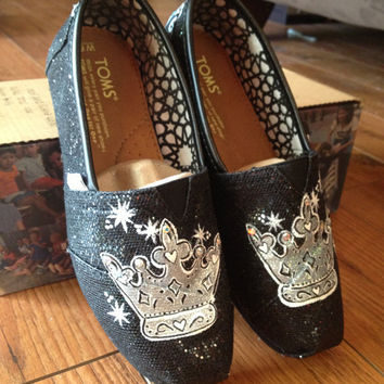 Sparkle Princess Crown Toms with rhinestone tips