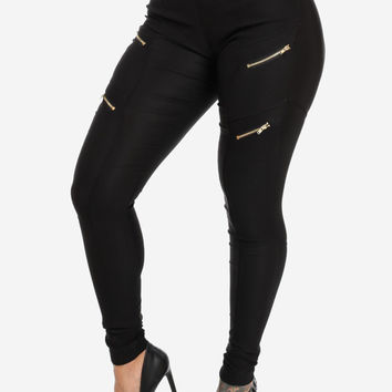 High Waist Skinny Black Pants