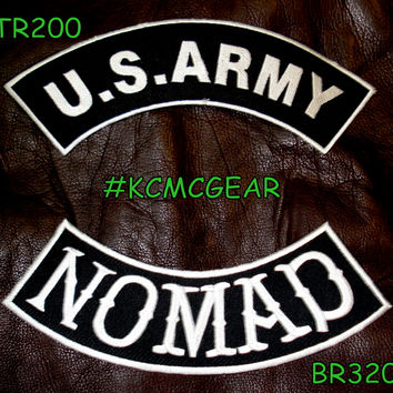 Military Patch Set U.S. Army Nomad Embroidered Patches Sew on Patches for Jackets