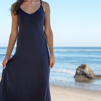 The Girl and The Water - L*Space Swim - Dreamer Maxi Dress Navy/Paprika - $198