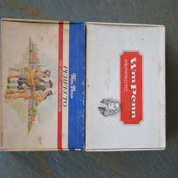 Vintage, Wm. Penn Perfecto, Cigar boxes, set of 2.