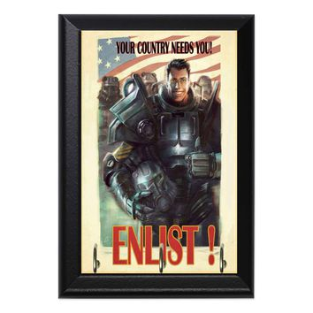 Enlist! Brotherhood of Steel Fallout Geeky Wall Plaque Key Holder Hanger