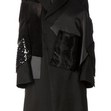 DCCKIN3 Junya Watanabe Comme Des Gar?ons stylised patchwork overcoat