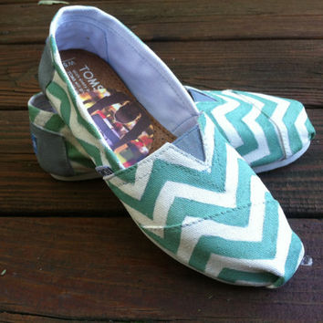 Chevron TOMS by KillerKicks23 on Etsy