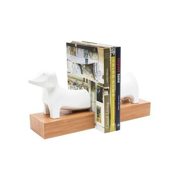 Dog Bookends | White 15-in