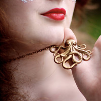 Octopus by figtreejewelry on Etsy