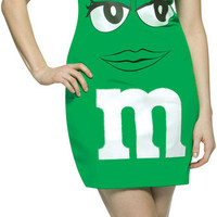 M&M Green Tank Dress Adult Costume