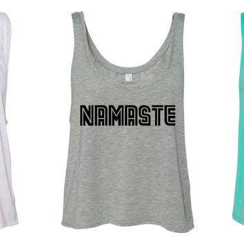 Yoga is Magic, Namaste or Om Shanti Flowy Boxy Crop Top