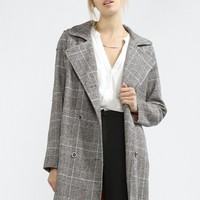 Notched Collar Trench Coat