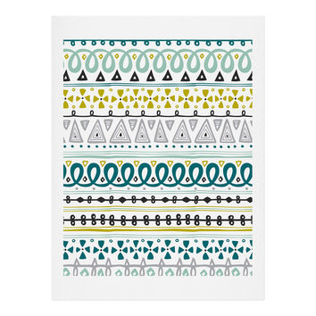 Heather Dutton Boho Market Stripe Art Print
