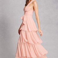 Tiered Belted Gown