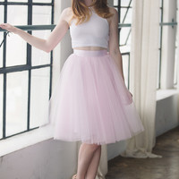 The Wendy - Soft Pink Tulle Skirt | Space 46