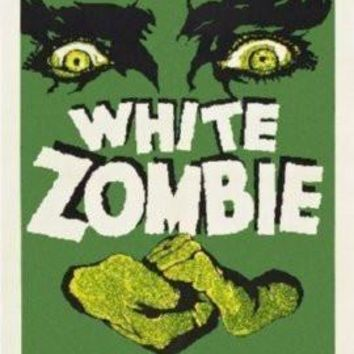 White Zombie Movie poster Metal Sign Wall Art 8in x 12in