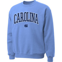 North Carolina Tar Heels :UNC: Carolina Blue Twill Arch Crewneck Sweatshirt
