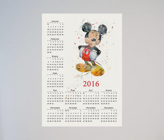 Mickey Mouse Disney Calendar Personalized From LaDecor