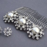 Beautiful Inch Pearl Comb | JulesBridalJewellery - Wedding on ArtFire