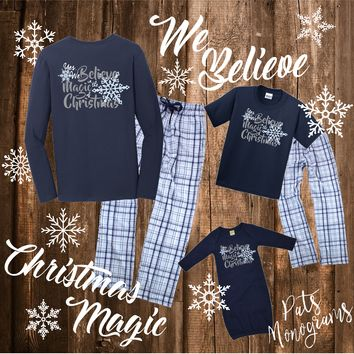 We Believe Family Christmas Pajamas - Matching PJ's for the whole family!!