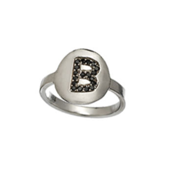 'Glamour Girl' Initial Ring