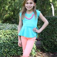 Neon Orange Jeggings - Ryleigh Rue Clothing by MVB