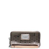 Jet Set Large Patent-Leather Smartphone Wristlet | Michael Kors