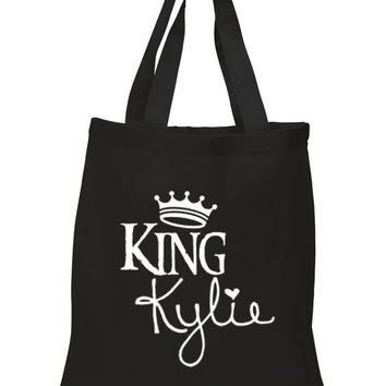 """Kylie Jenner """"King Kylie"""" 100% Cotton Tote Bag"""