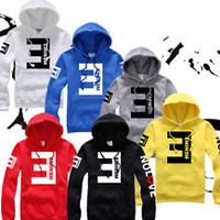 Hip Hop Eminem NO LOVE Man Fleece Thick Hooded Hoodie Lil Wayne Hoody Sweatshirt