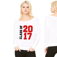 Class of 2017 women's long sleeve tee