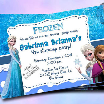 Frozen Invitation Design For Birthday Invitation