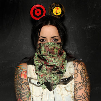 Custom mouse ears headband with targets bloody smiley guns disneyland america ZEF mickey