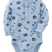 Paw Print Thermal Bodysuit