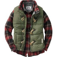 WOMEN'S PLAID LINED QUILTED PUFFER VEST